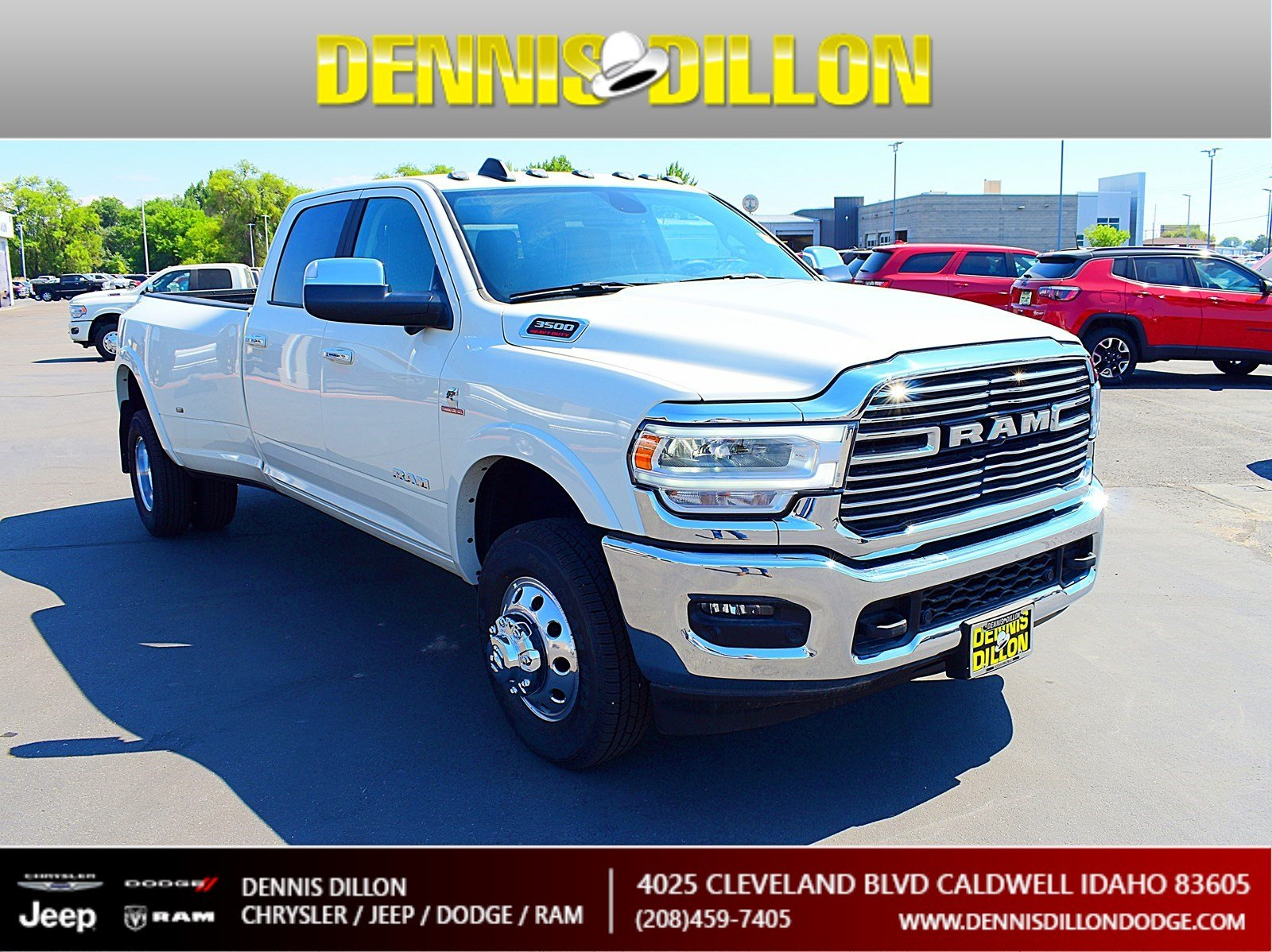 Dennis Dillon Dodge >> New 2019 Ram 3500 Laramie Crew Cab 4x4 8 Box